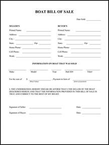 boat bill of sale form bill of sale pinterest boating