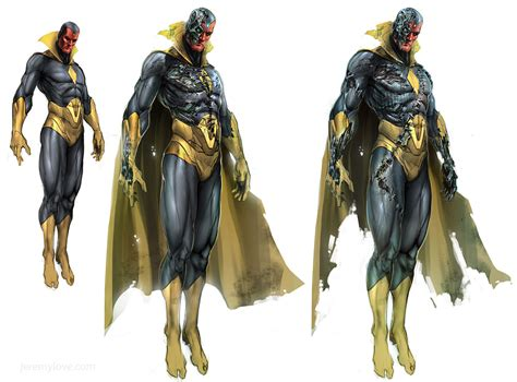 art design vision canceled skrull filled avengers project yields tons of