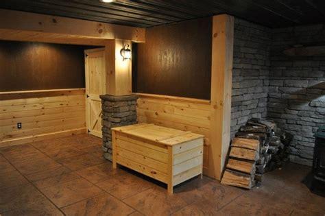 finished basements rustic basement - Rustic Finished Basement