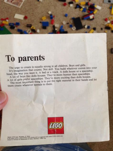 Parent Letter N1 70s Lego Had The Right Idea Pics