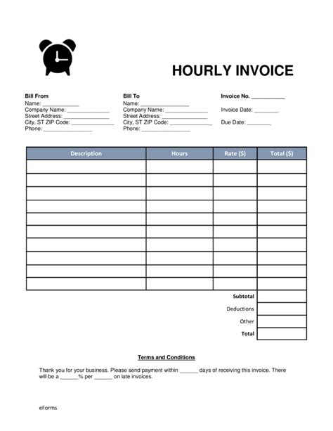 hourly invoice template hourly invoice template word rabitah net
