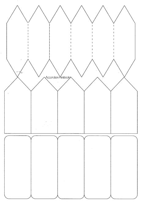 accordion book template printable minibook master template download practical pages