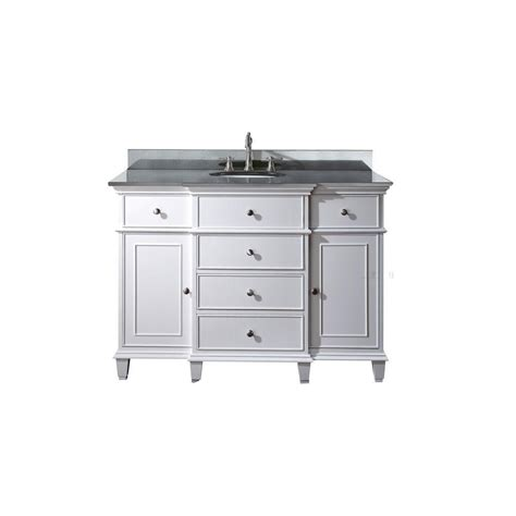 Home Depot 48 Inch Vanity by Avanity 48 Inch W Vanity In White Finish With