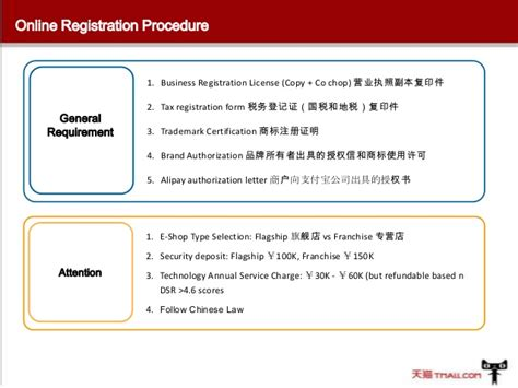 authorization letter of ownership alibaba tmall china operation procedure