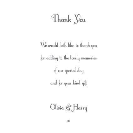 Wedding Thank You Wording by Wedding Thank You Card Wording Search Results Calendar