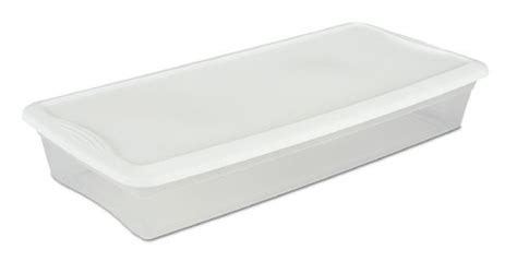 slim underbed storage sterilite 41 quart 39 liter underbed slim storage box