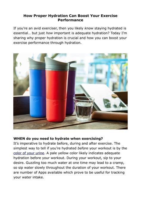 a hydration boost ppt how proper hydration can boost your exercise