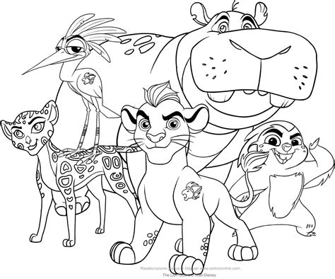 coloring pages lion guard lion guard disney coloring pages pictures to pin on