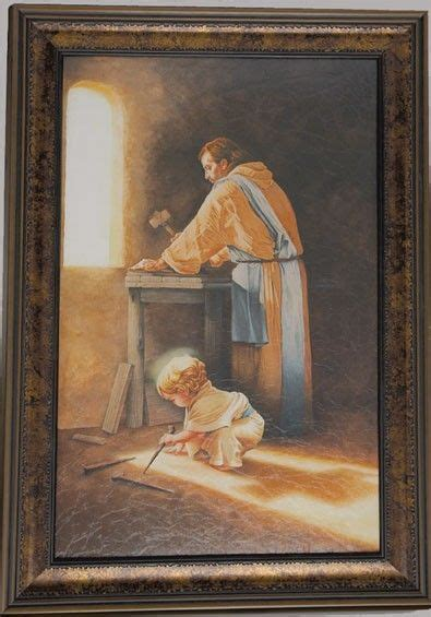 striking painting titled destiny depicts jesus rnas  young boy  josephs