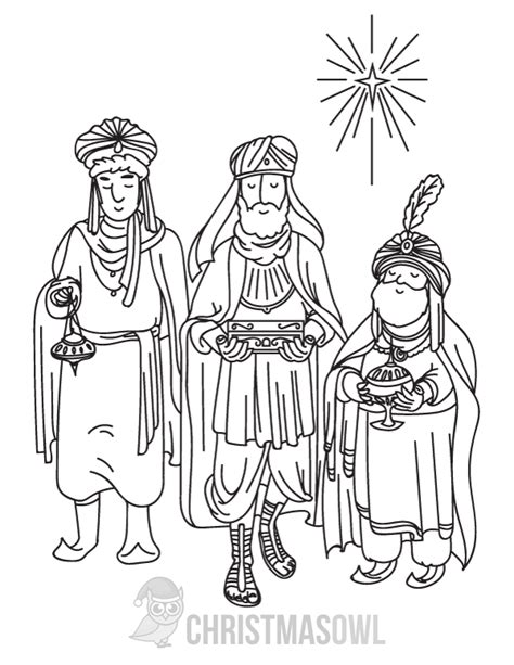 3 Wise Coloring Page free three wise coloring page