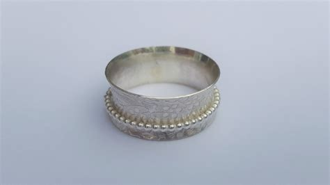 sterling silver spinner thumb ring worry ring motion ring