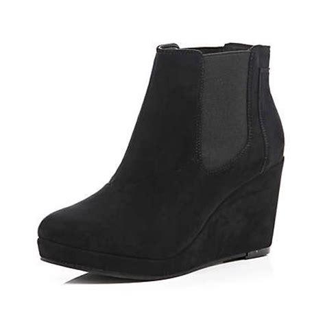 black wedge chelsea boots riverisland just arrived