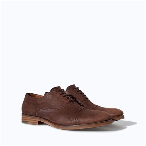 Zara Shoes Brown zara leather shoes in brown for lyst
