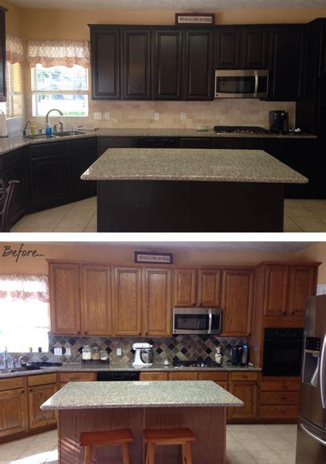Staining Kitchen Cabinets Espresso Kitchen Makeover In Espresso Water Based Stain General Finishes Design Center