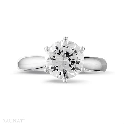 platinum engagement rings 2 50 carat baunat