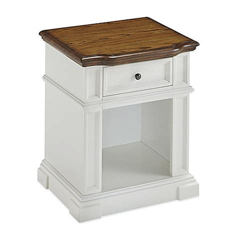 bed bath and beyond nightstand buy home styles nightstand in white oak from bed bath beyond