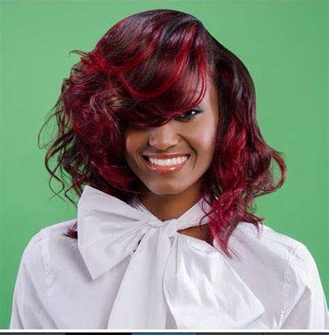 red hair color bob hairstyle black women hairstyles by