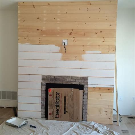 shiplap fireplace diy shiplap fireplace wall home shiplap