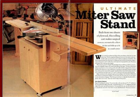 miter  stand project  popular woodworking