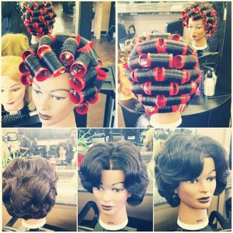 brick pattern roller set 1861 best vintage hair howtos images on pinterest