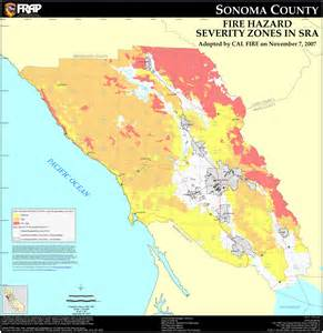 map of sonoma california protected areas of sonoma county california