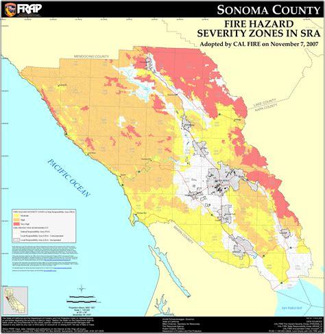 california map sonoma protected areas of sonoma county california