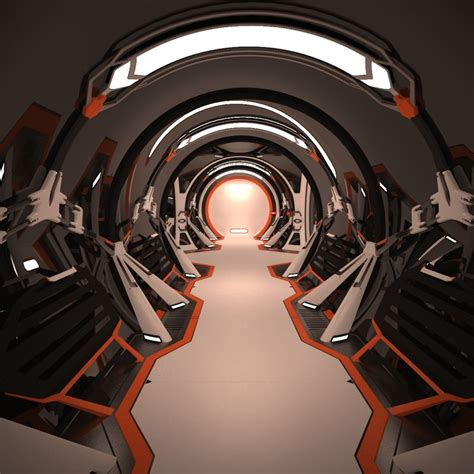 Sci Fi Interior by Sci Fi Spaceship Corridor Interior Max