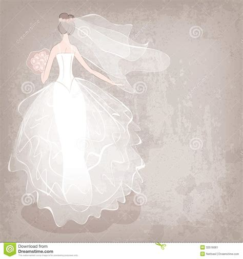 Wedding Gown Background by In Wedding Dress On Grungy Background Stock Image