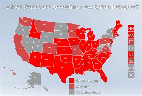 us map of states refusing refugees barack obama recommits us to do its part to accept