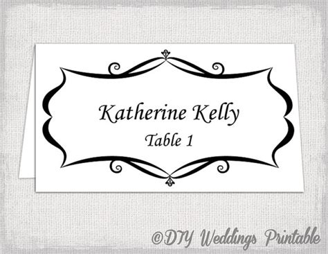 tent name card template word place card template tent and flat name by diyweddingsprintable
