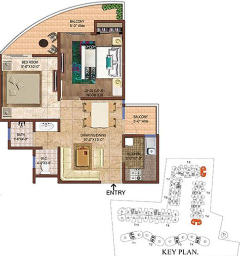 organic floor plan 790 sq ft 2 bhk 1t apartment for sale in rise projects