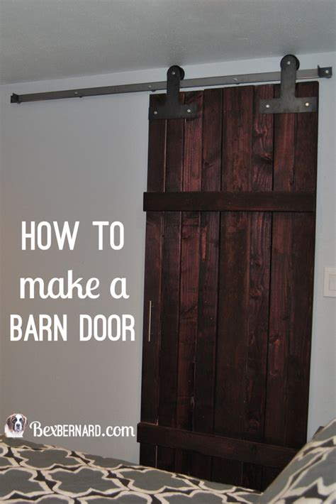 How To Make Barn Door How To Make A Barn Door Bexbernard
