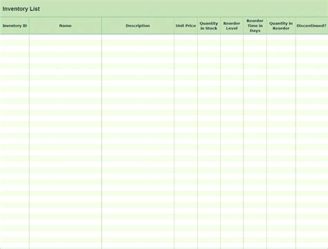 Inventory Template Excel 2010 by Sheet Related Excel Templates For Microsoft Excel