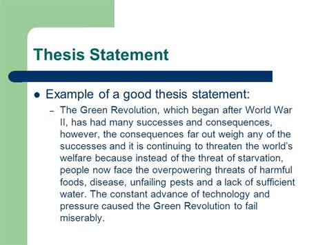 bad thesis statement exles writing the dbq thesis statement ppt