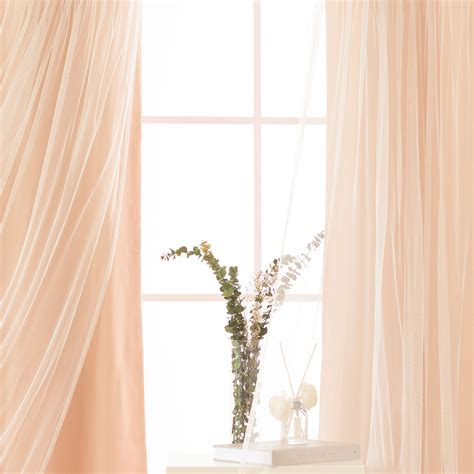 indie curtains indie pink lace 84 x 52 in overlay blackout curtains set