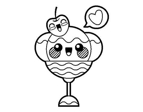 imagenes de kawaii para colorear dibujo de copa de helado kawaii para colorear dibujos net