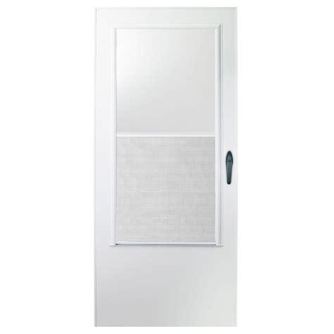 emco door emco 30 in x 78 in 100 series white self storing