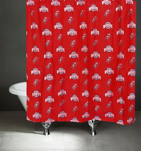 ohio state curtains ncaa ohio state buckeyes shower curtain bathroom decoration
