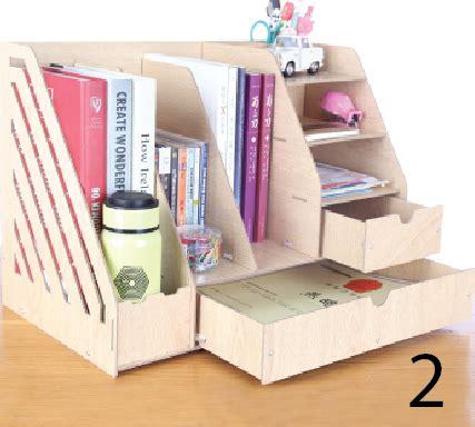 Rak Tempat Buku jual tempat buku rak dokumen meja dengan laci kecil nubi