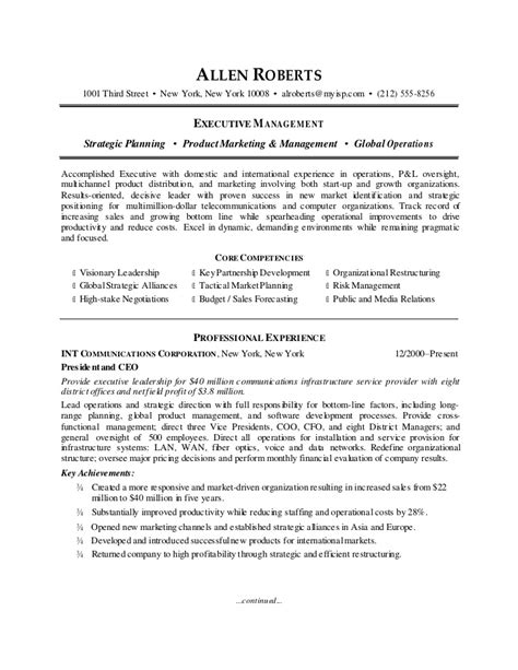 Coo Resume Sample by Ceo Resume Sample