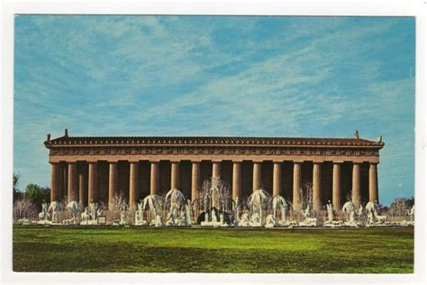 Home Decor Stores Uk by Parthenon Nashville Tn Nativity Scene Postcard Fred Harvey
