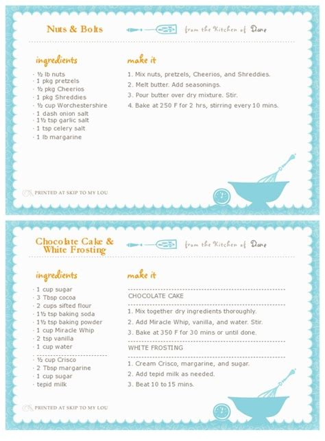 printable recipe card generator printable recipe card maker