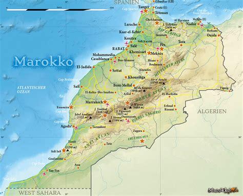 marokko landkarte marokko marokko kontinente und