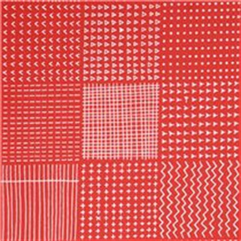 coral red square circle line triangle fabric coral robert