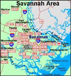 Savannah Zip Code Map by Florist Savannah Georgia Florists