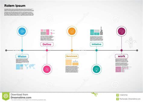 Milestone Company Infographic Vector Roadmap Design Template Stock Vector Illustration Of Milestone Roadmap Template