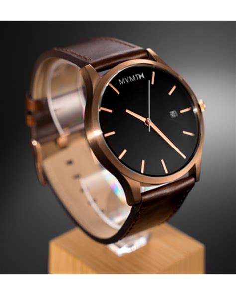 Tetonis Ts017 Black Rosegold Original mvmt watches gold with brown leather s original