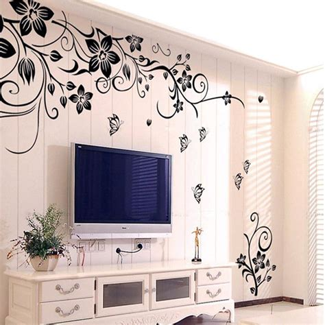 wall stickers for home decoration hot diy wall art decal decoration fashion romantic flower