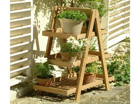 Planter Stands Outdoors by Wooden Tiered Plant Stand Images