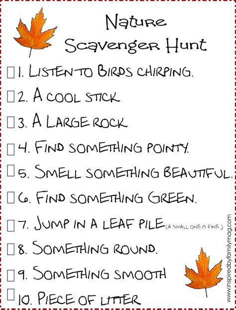 idea hunt nature scavenger hunt nature scavenger hunts activities and cing